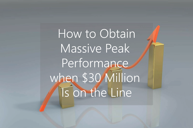 How to Obtain Massive Peak Performance