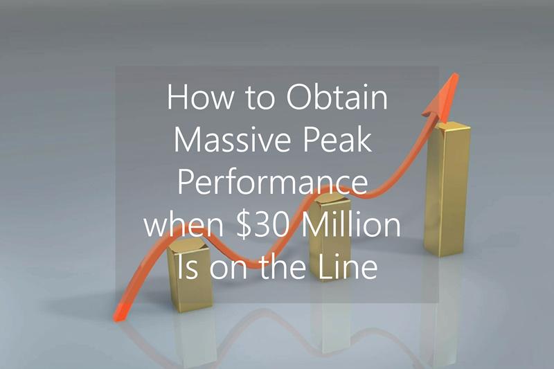 How to Obtain Massive Peak Performance